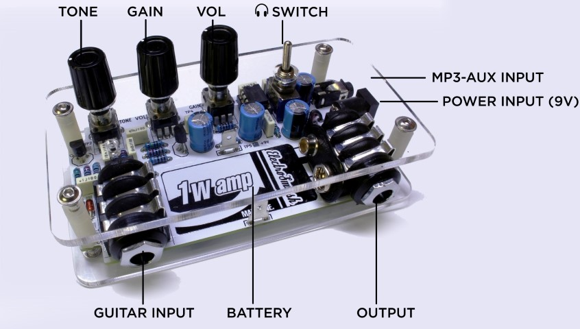 1w  Open Hardware 1 Watt Guitar  lifier besides  in addition Gindex likewise Best Audio Active High Pass Filter besides Piezo Disk Pre lifier. on simple tube amp circuits
