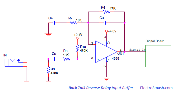 Back Talk Reverse Delay Input Buffer
