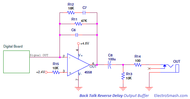 Back Talk Reverse Delay Output Buffer