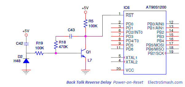 Back Talk Reverse Delay Power On Reset