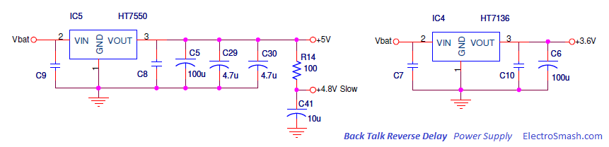 Back Talk Reverse Delay Power Supply