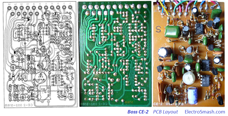 Boss CE-2 Layout
