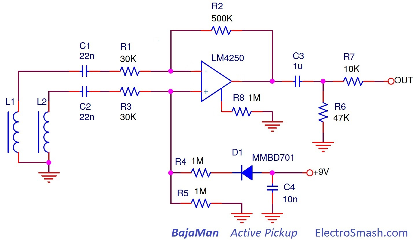 pick up wiring diagram active electrosmash emg81 pickup analysis bajaman active pickup schematic
