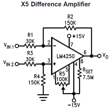 LM4250 Differential Amplifier
