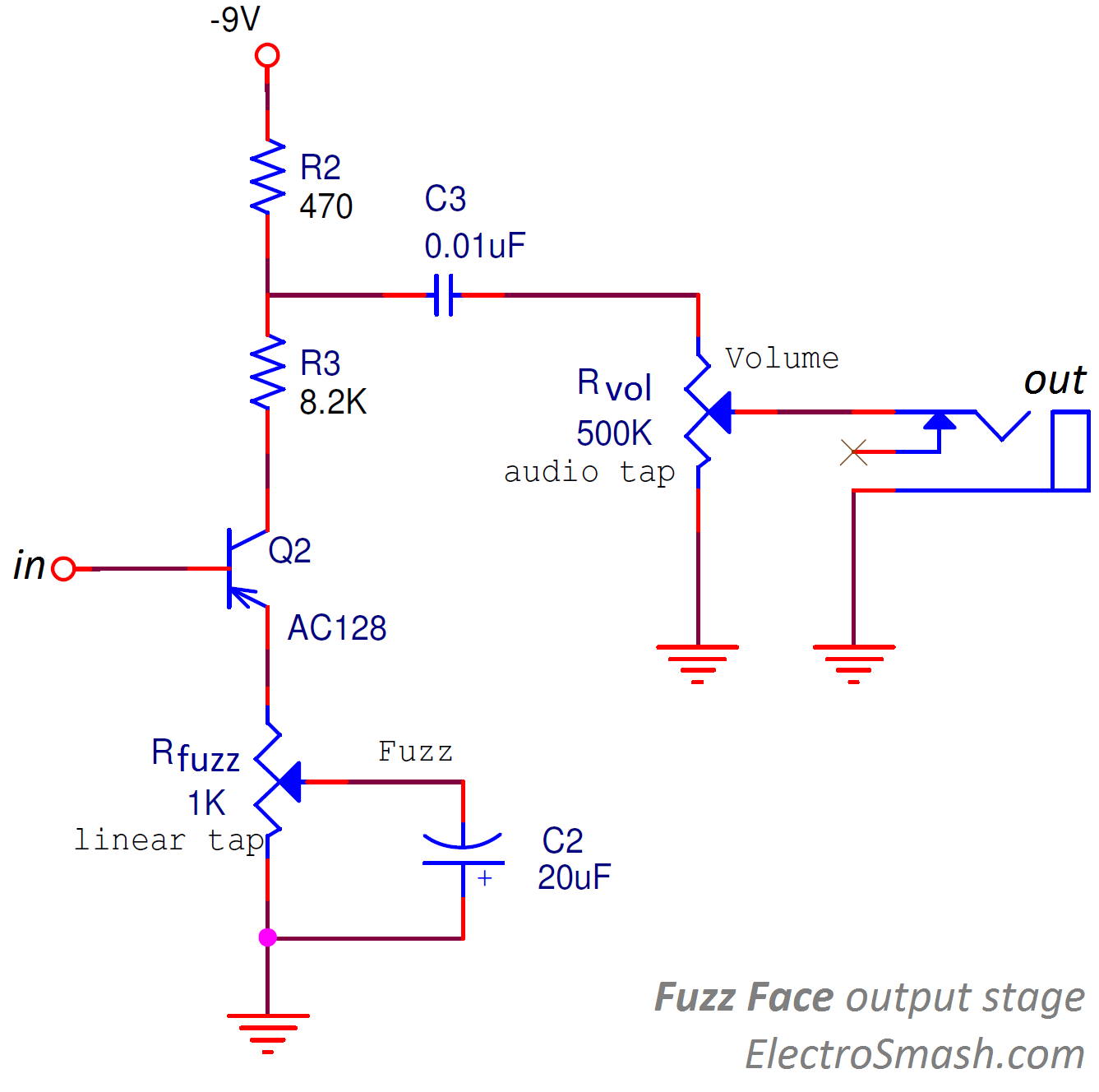 fuzz face output stage