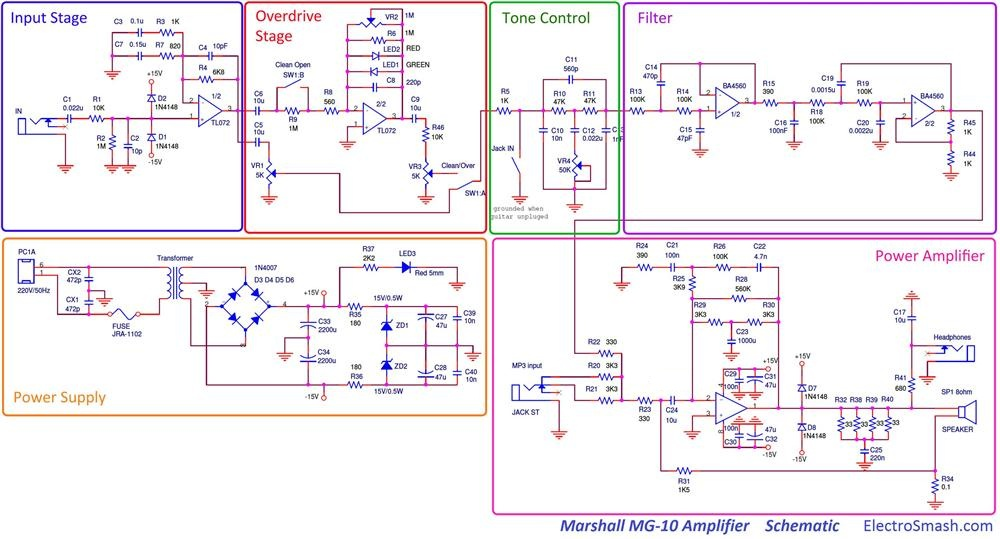 marshall-mg10-schematic-parts