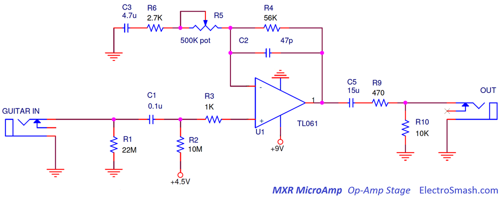 MXR MicroAmp OpAmp Stage