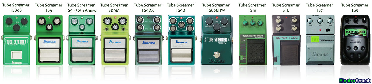 Tube Screamer All Pedals 1274x289