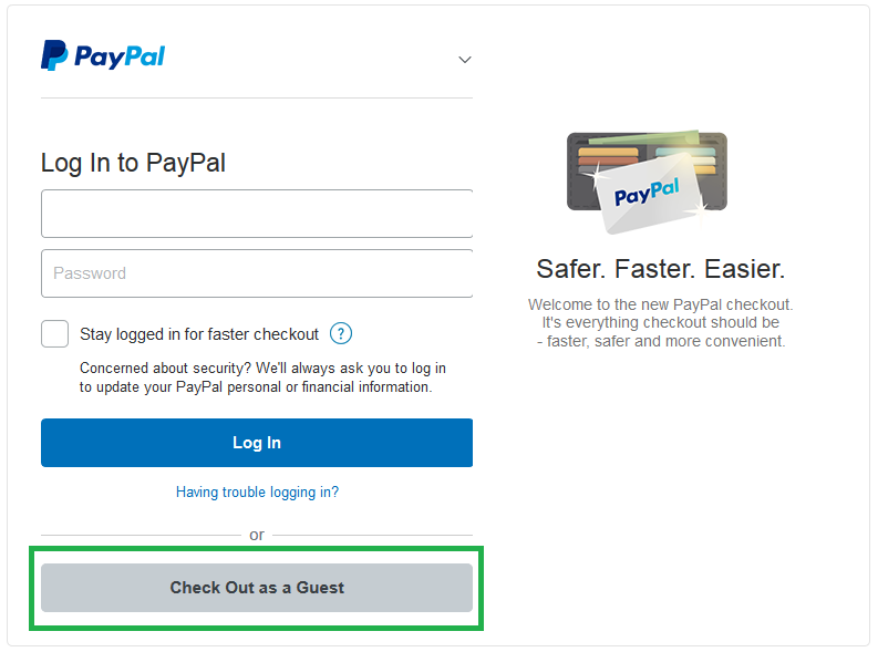 how to change credit card details on paypal