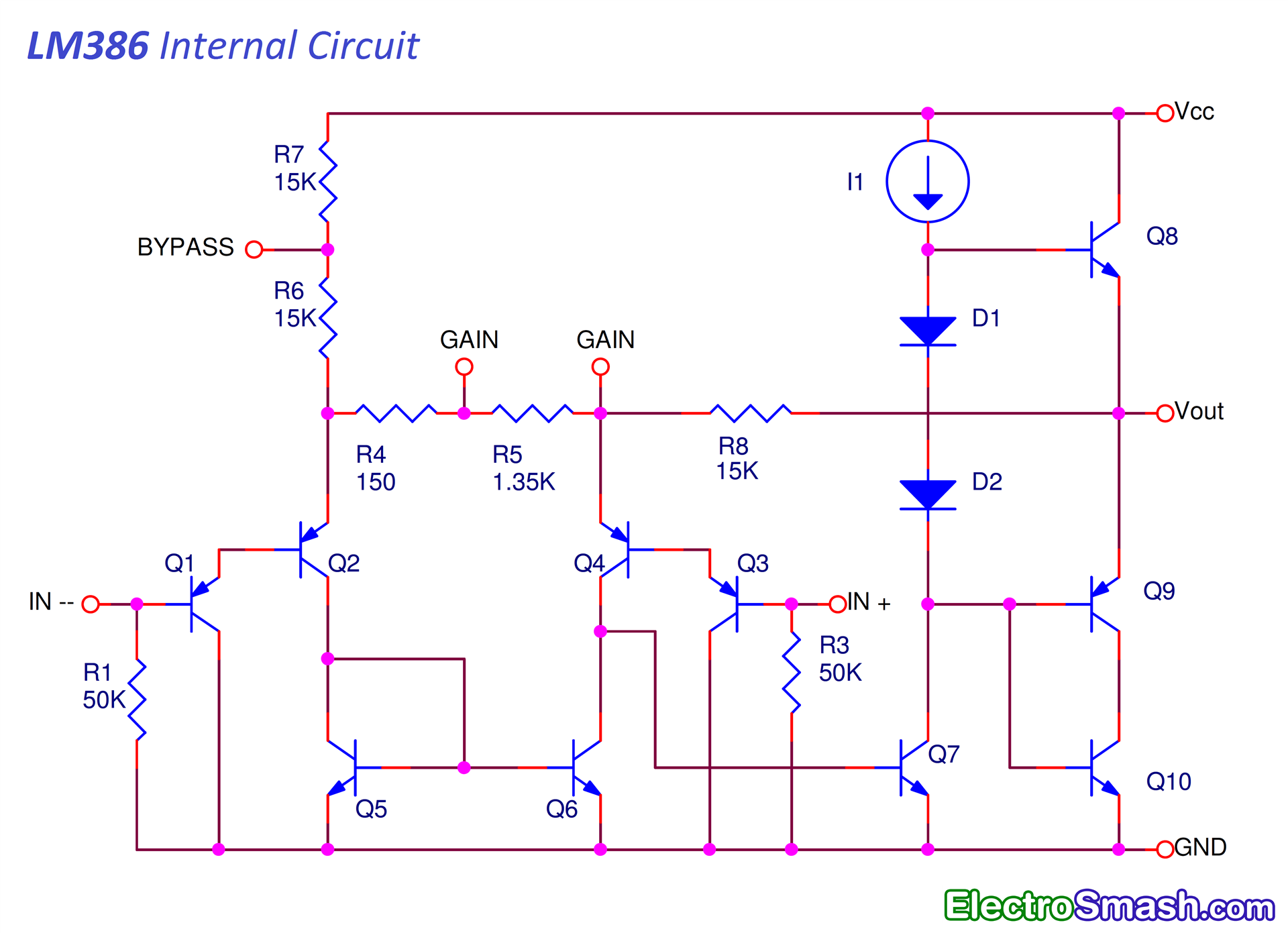ElectroSmash - Selected Schematics on block diagram, electronic design automation, tube map, data flow diagram, schematic capture, control flow diagram, straight-line diagram, one-line diagram, cross section, function block diagram, functional flow block diagram, piping and instrumentation diagram, diagramming software, circuit diagram, ladder logic, technical drawing,