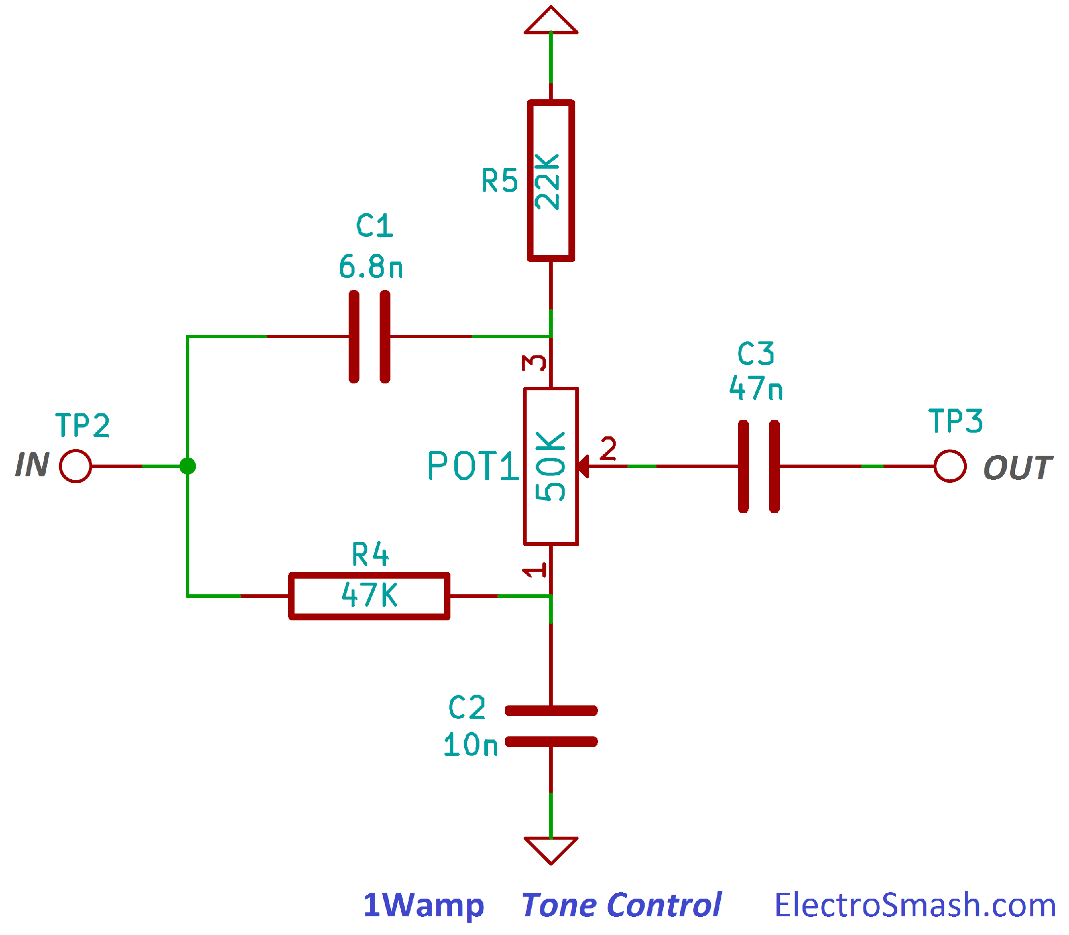 Electrosmash 1wamp Electroc Guitar Amplifier At Amp T Phone Wiring Diagram Tone Control Circuit