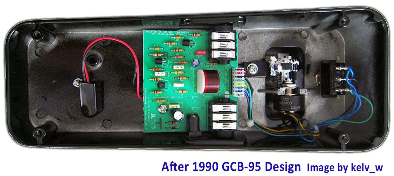 Electrosmash Dunlop Crybaby Gcb 95 Circuit Analysis Electrical Schematics Training Get Free Image About Wiring Diagram Cry Baby Wah Guts After1990