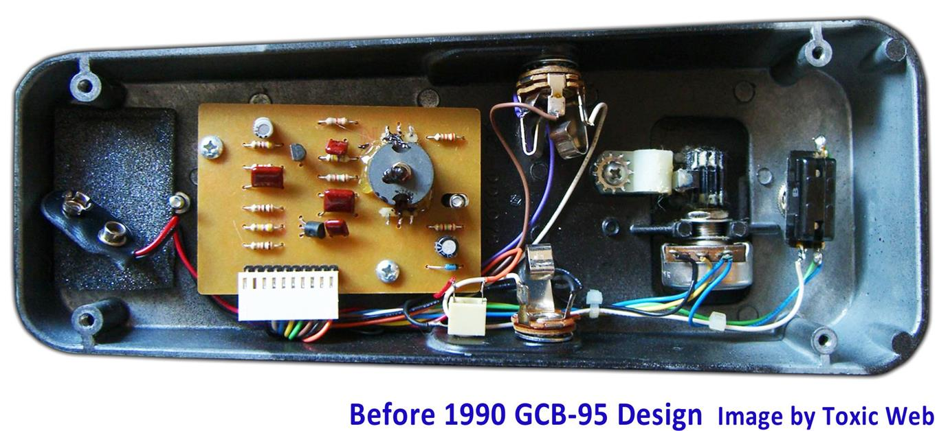 Electrosmash Dunlop Crybaby Gcb 95 Circuit Analysis 1 4 Jack Wiring To Board Cry Baby Wah Guts Before1990
