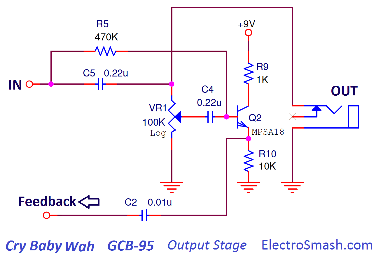 electrosmash dunlop crybaby gcb 95 circuit analysis guitar footswitch wiring-diagram wah pedal wiring diagram #4