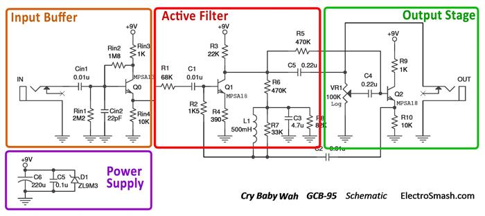 cry baby wah gcb 95 schematic parts small electrosmash dunlop crybaby gcb 95 cicuit analysis crybaby gcb-95 wiring diagram at eliteediting.co