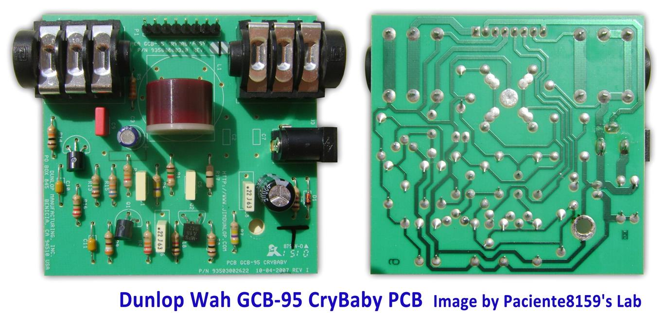 Electrosmash Dunlop Crybaby Gcb 95 Circuit Analysis Kirk Hammett Wiring Diagram The Cry Baby