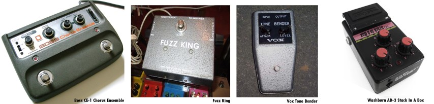Boss Chorus Ensemble Fuzz King Gary Hurst Vox Tone Bender Washburn small
