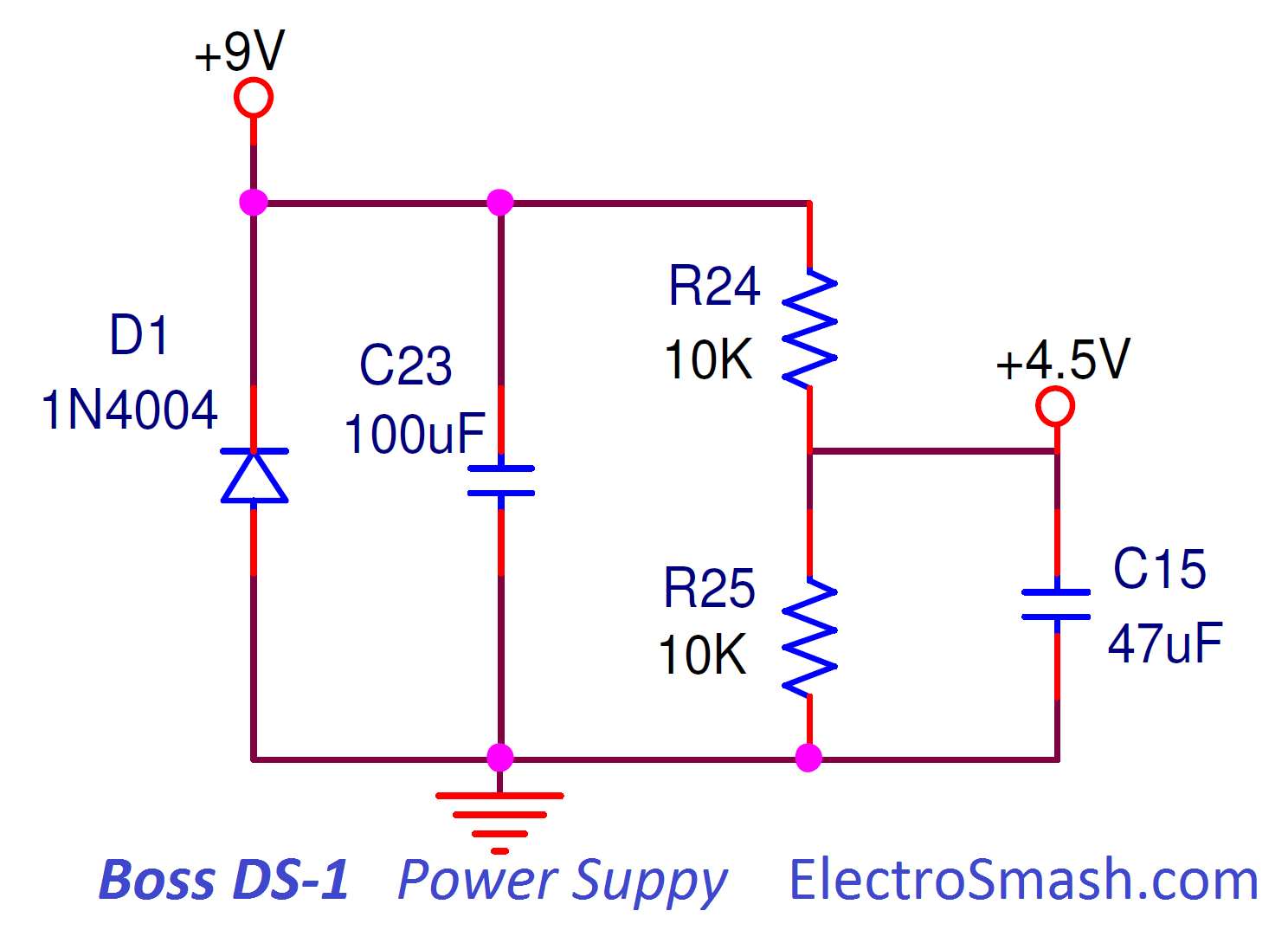 electrosmash boss ds1 distortion analysis Boiler Wiring Diagram boss ds1 distortion power supply