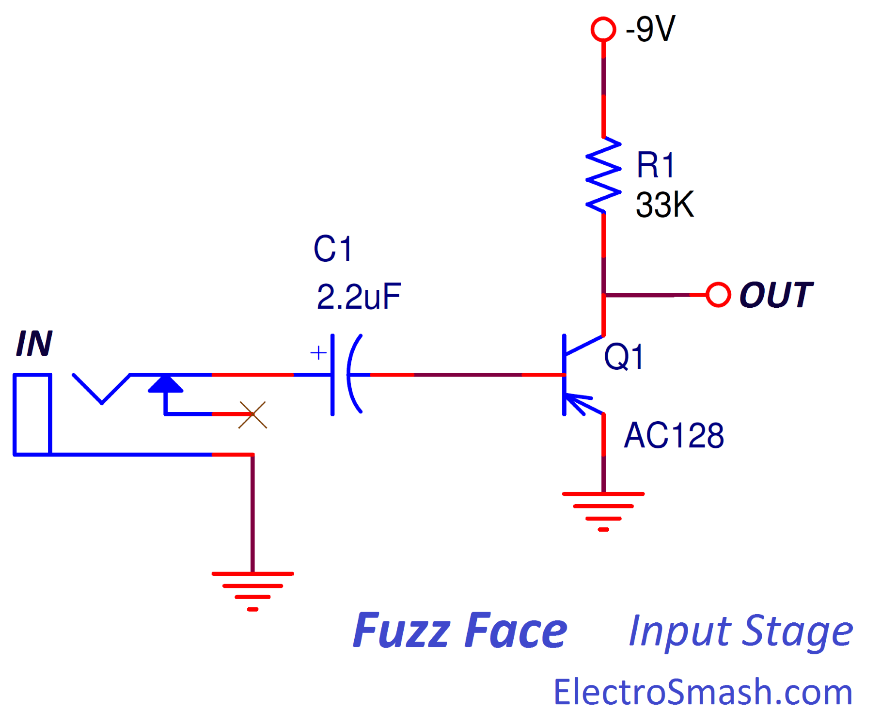 Electrosmash Fuzz Face Analysis Mains High And Low Voltage Cut Off Circuit Using Ic 324 Explained