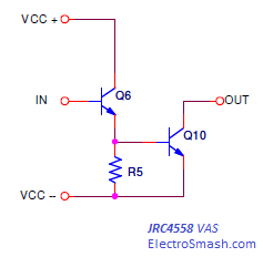 JRC4558 Voltage Amplifier Stage