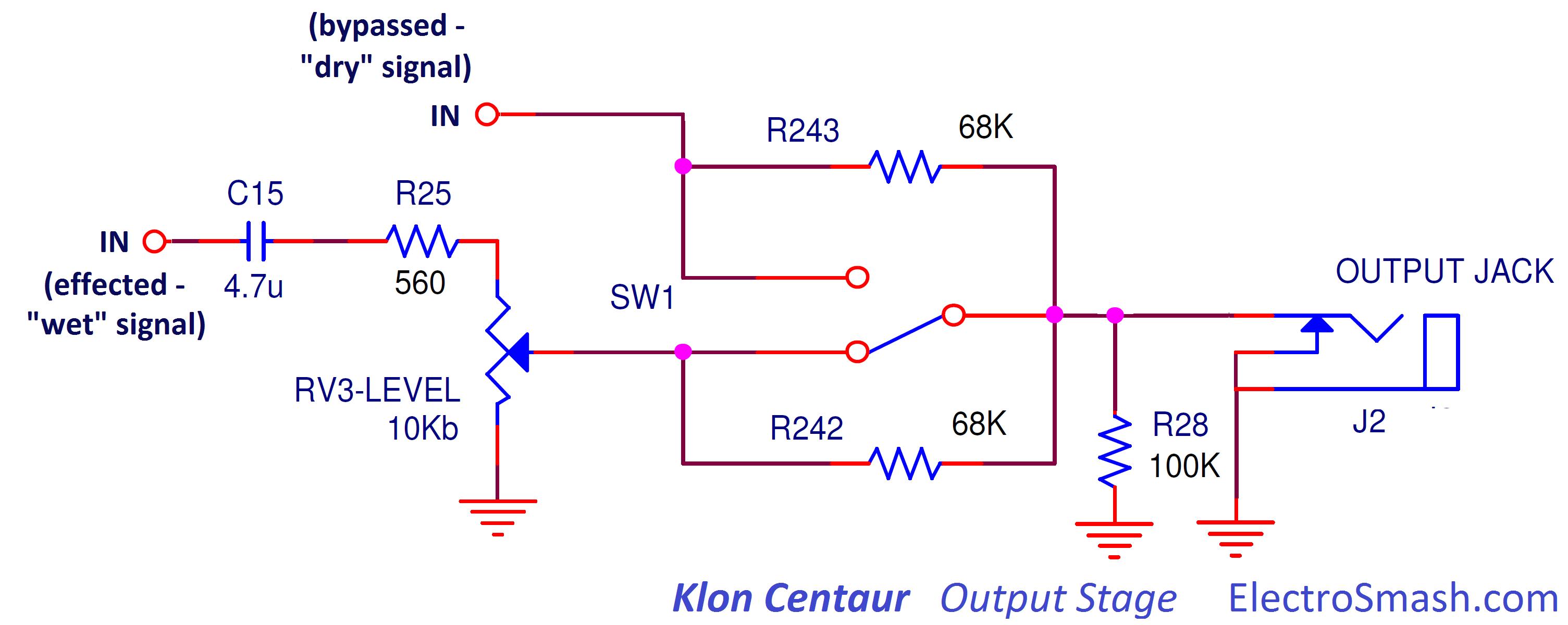 Electrosmash Klon Cenatur Analysis Figure 1 Wah Pedal Circuit Schematic Diagram Centaur Output Stage