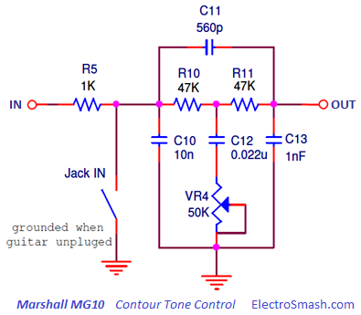 Big Cheese Fuzz further Solar  m Charge Controller Circuit Diagram moreover UNPh38 1 moreover Audio Loudness Control together with Fuzz Pedal. on tone control schematic