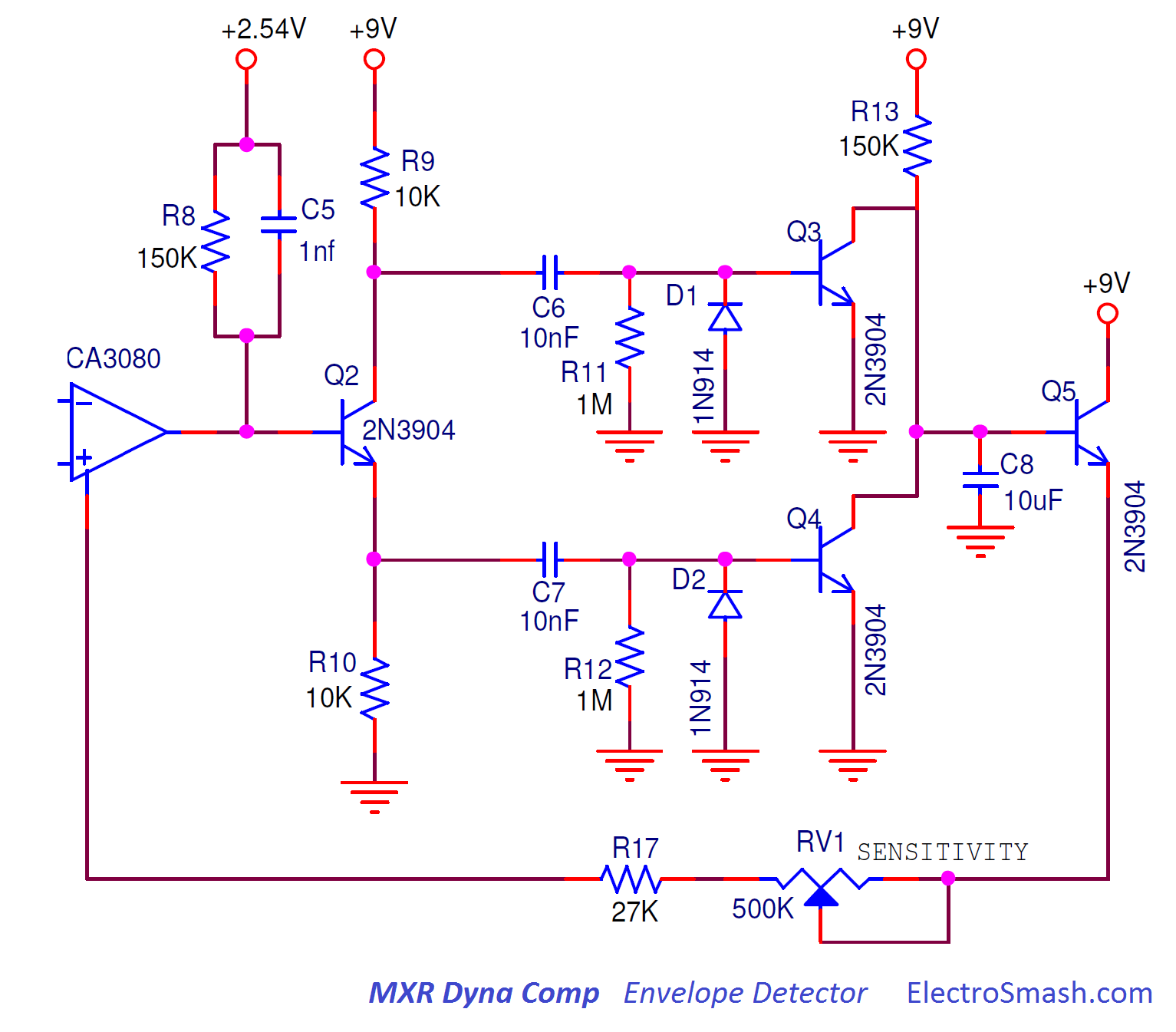 Electrosmash Mxr Dyna Comp Analysis Figure 2 Passive Envelope Detector Circuit