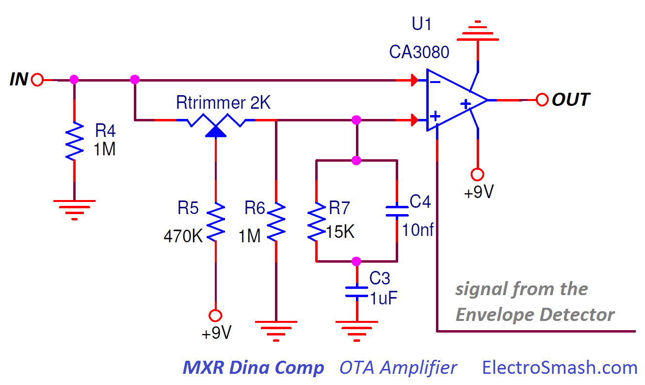 Electrosmash Mxr Dyna Comp Analysis Envelope Schematic Detector Ota Amplifier