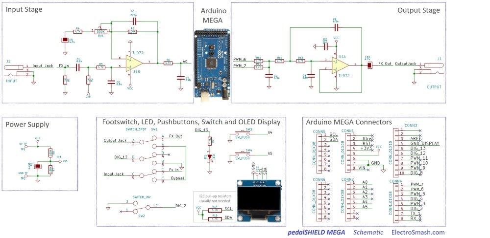 pedalshield mega schematic