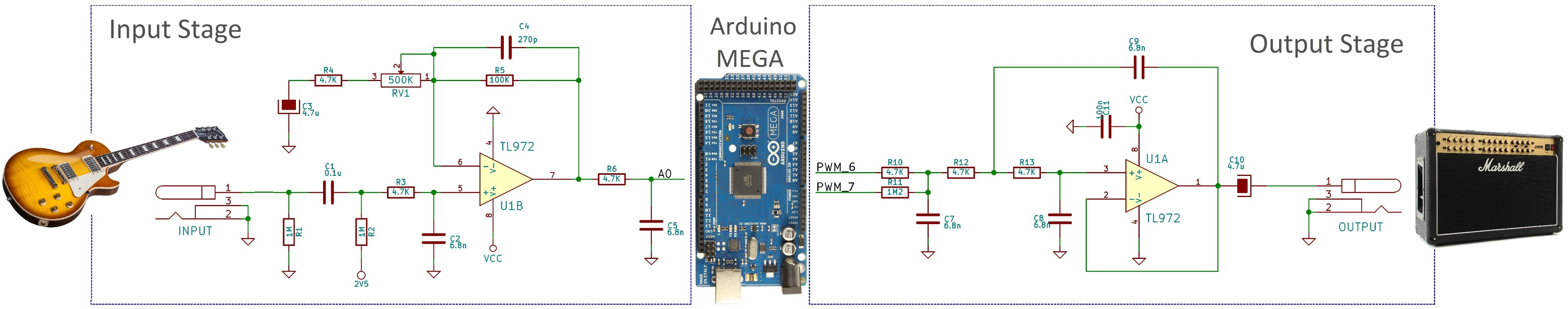 Electrosmash Pedalshield Mega Arduino Guitar Pedal Way Switch Wiring Diagram Pinterest Stages Small