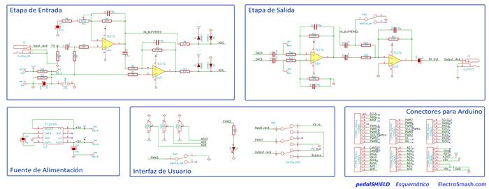 electrosmash pedalshield pedal de guitarra arduino. Black Bedroom Furniture Sets. Home Design Ideas