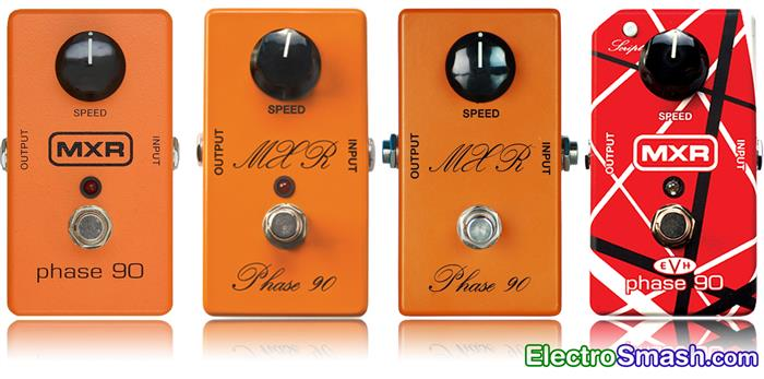 mxr phase 90 all dunlop model versions