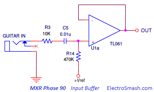 mxr phase 90 input buffer stage