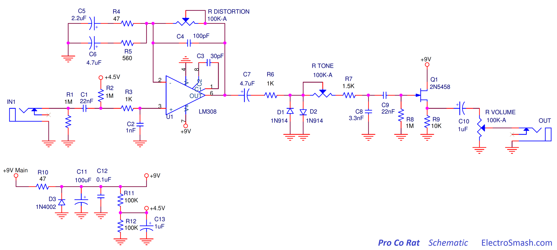 pro co rat schematic electrosmash proco rat wiring diagram at gsmx.co