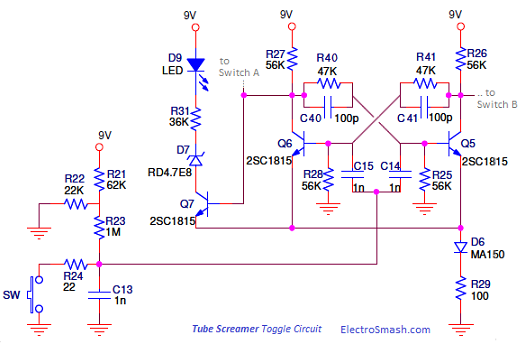 electrosmash tube screamer circuit analysis rh electrosmash com Ibanez Gio Wiring-Diagram ibanez tube screamer ts9 wiring diagram